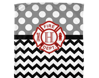 FIRE TRUCK Blanket Boy MONOGRAM Personalized Firetruck Bedroom Soft Baby Nursery Velveteen Home Decor Bedding Shower Gift Choose Colors