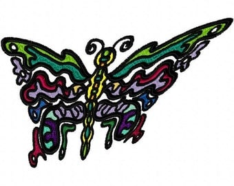 Exotic Butterfly Machine Embroidery Design  by LetZRocK (2038)
