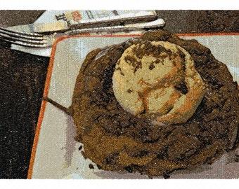 Ice Cream Waffle and Chocolate  Machine Embroidery Design...3021