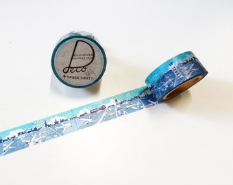Airplane Washi Tape • Round Top Airline Masking Tape • Space Craft Deco Washi Tape SC-MK-047