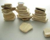 ON SALE! Sea Tumbled Beach Pottery, Beach Decor, Instant Collection, Beach Mementos, Vacation Memories, Sea Pottery, Scottish beach pottery
