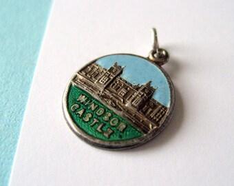 Sterling Silver Windsor Castle English Travel Charm