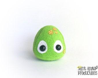 Mini Green Slime Ball Plush, Stuffed Tiny Slimer Monster Plushie, READY to SHIP