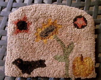 Sunflower Crow Rug