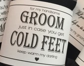 Custom Groom Sock Label | In case you get cold feet | Printable label | Personalized Best Man | Groomsman | Father of Bride | you choose