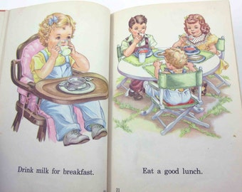 Awake and Away Vintage 1940s or 1950s Children's School Reader or Textbook by Lyons and Carnahan