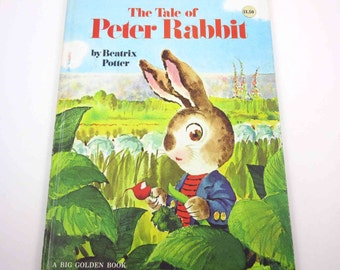 The Tale of Peter Rabbit Vintage 1960s or 1970s Children's Golden Book by Beatrix Potter Illustrated by Rod Ruth