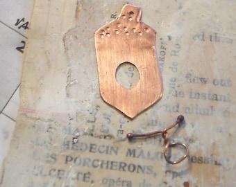 Copper Acorn Clasp