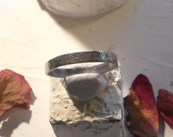 22kt Fused Gold and Sterling Stacking or thumb ring