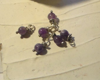 6mm wire wrapped Cape Amethyst Charms