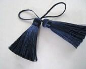 4 Pieces of Short Silk Tassel  - Number 25 Midnight Blue