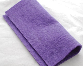 "100% Wool Felt Fabric - Approx 3mm - 5mm Thick - 30cm / 12"" Square Sheet - Lavender Purple"