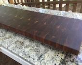 Walnut End Grain - Straight Bookmatch, Flowing Bookmath, Brick Pattern, Straight Seam