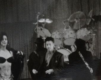 1990 Graffiti Bridge Production Photograph, Black & White Photo, The Time, Warner Brothers, Musical Drama