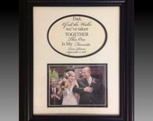 Reserved - Two framed father of the bride cream and black vertical. And a father of the groom horizontal