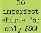 Imperfect Shirt Bundle.  Sale tee shirts.  Clearance shirts.  ellembee sale. graphic tees for women. womens tops and tees.