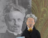 August Strindberg- Playwright- Author and Writer- Literary Art- Miniature Doll- Historical Men