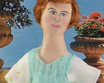 Maria Von Trapp Art Doll Collectible Miniature