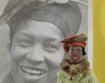 Zora Neale Hurston Art Doll Miniature Writer Author Character