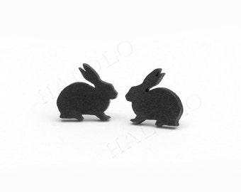 Rabbit Stud Wooden  Cabochons (WS-155)