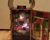Sacre Coeur tiny saint taxidermy mouse lantern