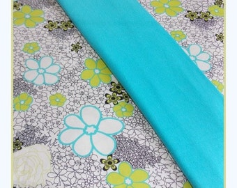 Pet Clothing - Reserved for Truffles Turquoise Daisies Slip Dress