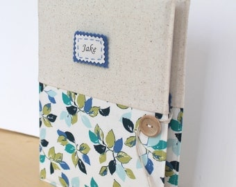 custom photo album personalized holds 208 photos Amy Butler fabric