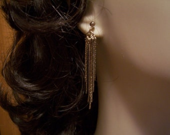 Gold Dangle chain Earrings