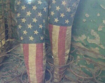 Primitive Americana Summer Long Flag Heart.  WOW