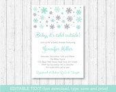 Snowflake Baby Shower Inv...