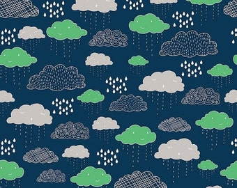 25% OFF Greatest Adventure Clouds Navy - 1/2 Yard