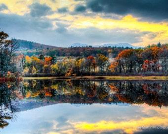 Fall Foliage ,Canvas Print, Wall Art, Sunset, Cloudy Day , Fine Art Photography, Nature photo,Sky Scape, Sky, Landscape photo
