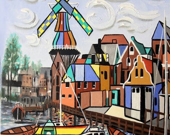 Holland Not Just Tulips And Windmills Original Print Anthony Falbo