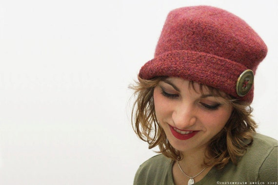 CROCHET PATTERN - It's Hip to be a Square Felted Hat - Instant Download (PDF)