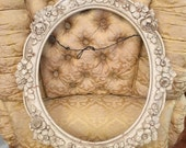 Large Ivory Syroco or Gesso White Picture or Mirror Frame