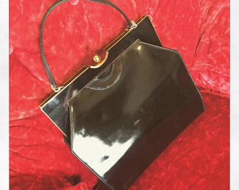 1950's Rosenfeld Genuine Patent Leather Purse