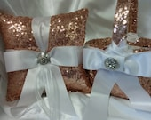 ON SALE TODAY Sequin Ring Pillow or Basket -Colors- Flower Girl -Ringbearer, Wedding, Bridal, Sequin,  Ribbon Choice, Bling Diamo