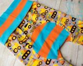 Maxaloones, Construction truck cloth diaper pants, grow with me pants