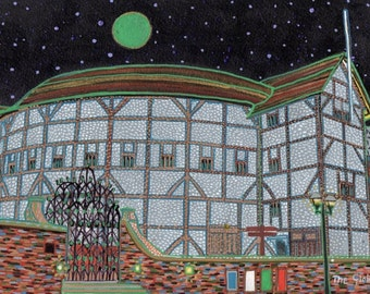 The Globe. A limited edition, numbered and signed A4 print from an Original Painting by Richard Friend