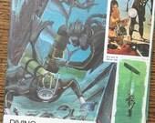 Diving for Sunken Treasure Vintage Collage, Scrapbook and Planner Kit Number 2057
