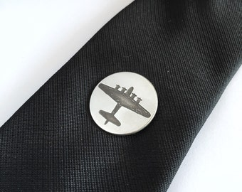 Silver Lapel Pin Tie Tac, Airplane Lapel Pin, Gift for Groomsmen or Groom, Aviation Jewelry, Mens Jewelry, custom Father's Day gifts For Him