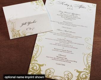 Carmel Menu, Table Marker & Place Card Set