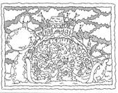 Adult Coloring Page ~ Snail Doodle