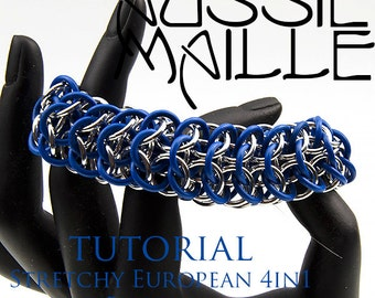 Chainmaille Tutorial - Stretchy Interwoven European 4in1 Bracelet