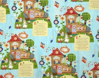 Windham Mother Goose Old Woman Lived in Shoe - Cotton Quilting Fabric - 1 Yard