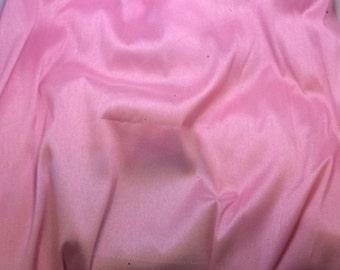 Baby Pink - Faux Silk Dupioni Fabric - 1 Yard