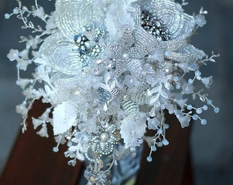 Wedding bouquet custom made to order Wedding bouquet  - Bridal brooch  bouquet ULTIMATE GLAM - wedding keepsake
