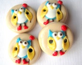 "Rubber Book Owl 4 3/4"" buttons"