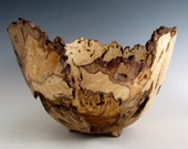 Rustic Oak Burl Wood Turned Bowl - Housewarming Gift - Wedding Gift- Hand Made Wood Bowl- Hand Turned Wooden Bowl