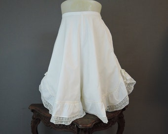 Vintage Edwardian Bloomers with Wide Legs, XS 23 waist, Antique Underwear Lingerie, 1900s 1910s